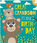 Great Grandson Monkeys Birthday Card